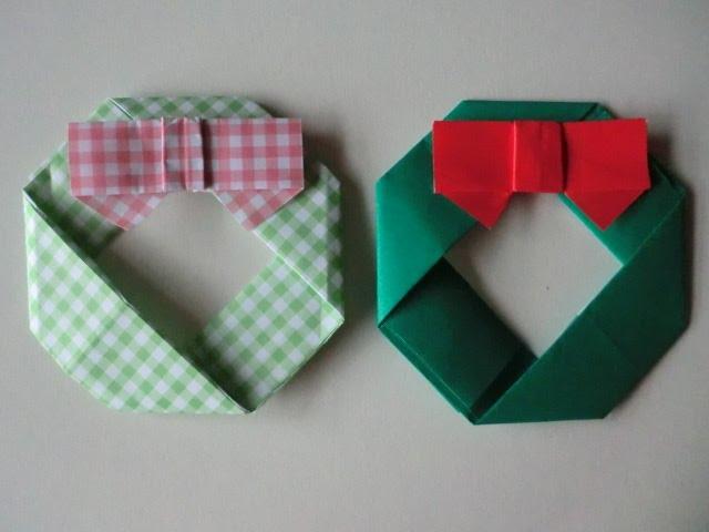 クリスマス 折り紙 折り紙 クリスマスリース : miyakyo0001.com