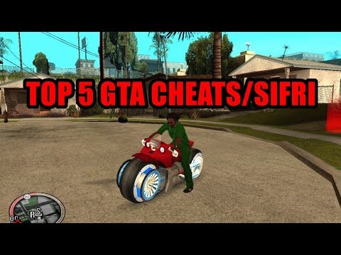 TOP 5 GTA SAN ANDREAS CHEATS/SIFRI