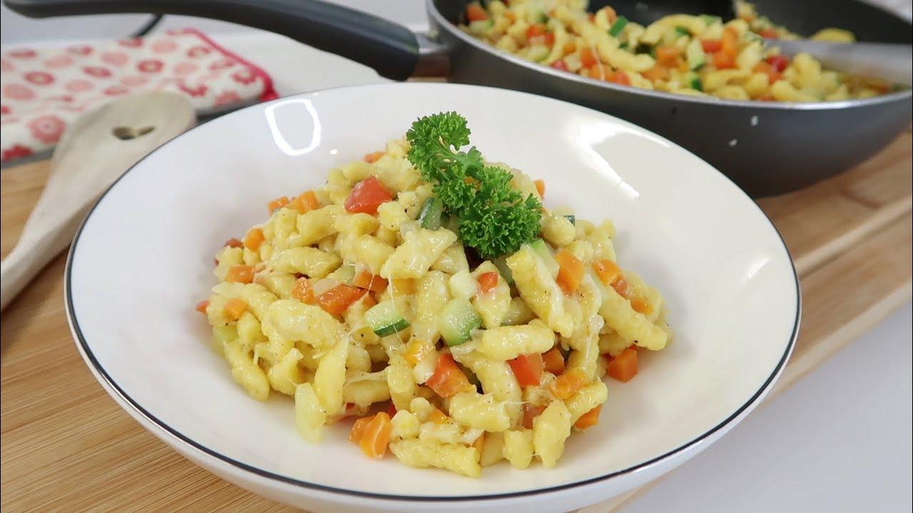 BUNTE SPÄTZLE-PFANNE | Vegetarisches Rezept | Soooo MEGA LECKER