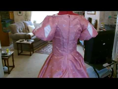 Disney Ariel Pink dress Skirt & long sleeve tutorial Video belongs to Tracy