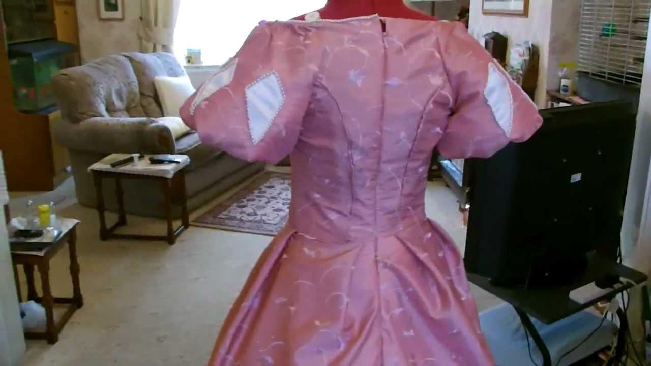 Disney Ariel Pink dress Skirt & long sleeve tutorial Video belongs ...