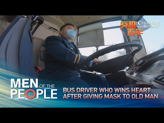 Men of the people: Bus driver wins hearts after giving mask to old man
