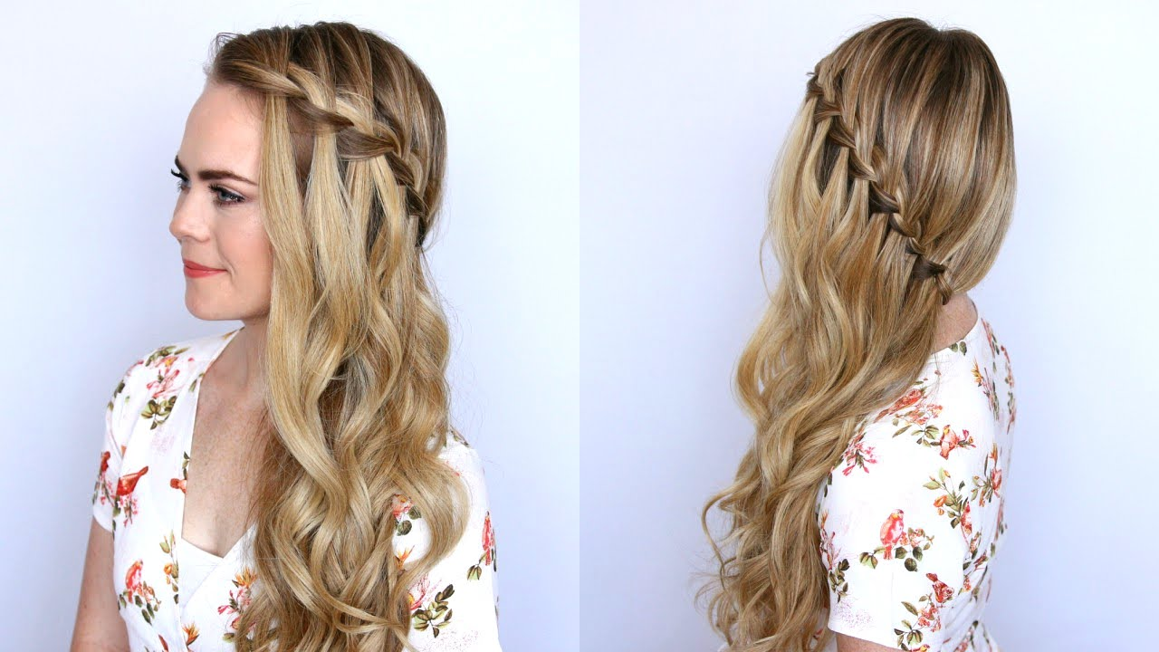 Sideswept Waterfall Braid Missy Sue Youtube