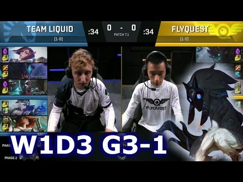 Liquid vs FlyQuest Game 1 | S7 NA LCS Spring 2017 Week 1 Day 2 | TL vs FLY G1 W1D3 1080p