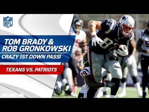 Tom Brady Flips the Ball to Rob Gronkowski Mid-Sack! | Texans vs. Patriots | NFL Wk 3 Highlights