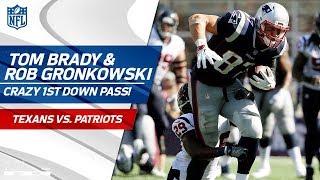 Tom Brady Flips the Ball to Rob Gronkowski Mid-Sack! | Texans vs. Patriots | NFL Wk 3 Highlights