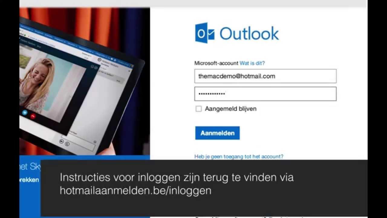 Hotmail aanmelden - Diensten - YouTube