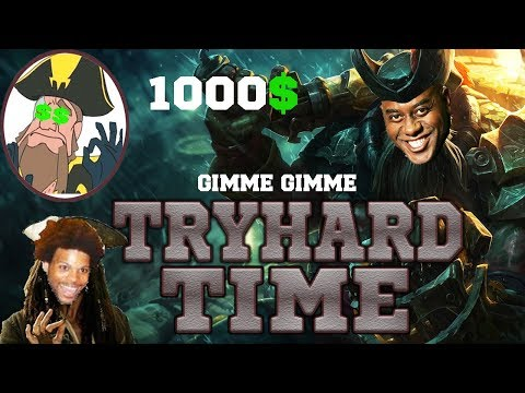 Tobias Fate - AFRICAN GANGPLANK SKIN? 1000$ DONATION!! TRYHARD STREAMS | League of Legends