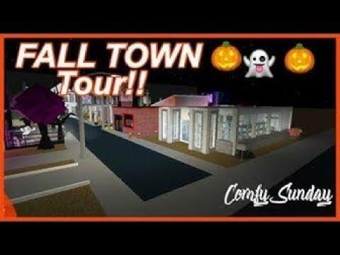 Roblox Bloxburg Fall Town Tour ♡ Youtube