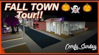 Roblox Bloxburg| Fall Town Tour ♡