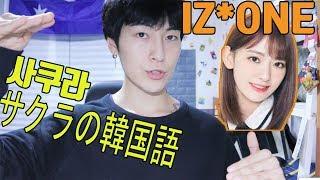 今回の動画ではIZONEのサクラの韓国語をご紹介します!   happy valenti...