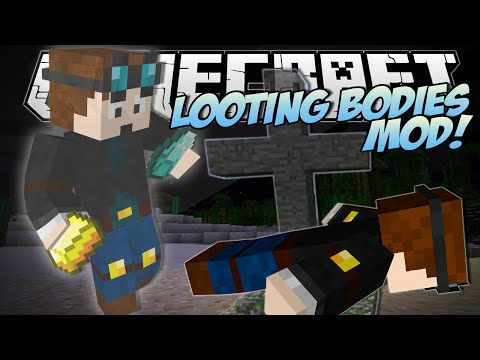 Minecraft | LOOTING BODIES MOD! (Never Lose Stuff Again!) | Mod Showcase