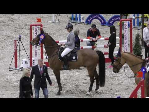 Peltola Åsa & Bernhard, Palkintojenjako 120cm @ Helsinki Horse Fair 17.-19.3.2017