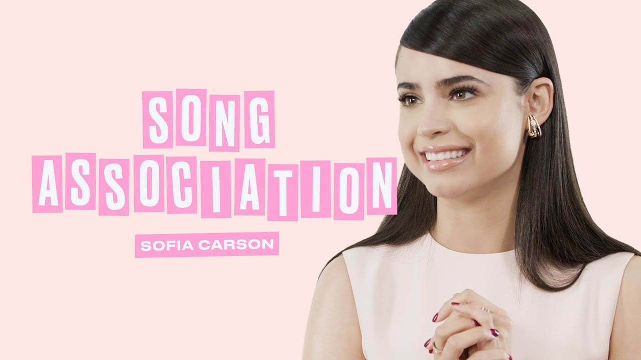 Sofia Carson Sings Ariana Grande, Dua Lipa, and Justin Beiber in a Game of Song Association | ELLE