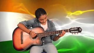 Indian National Anthem Played on Guitar.. By Aryan Music Classes