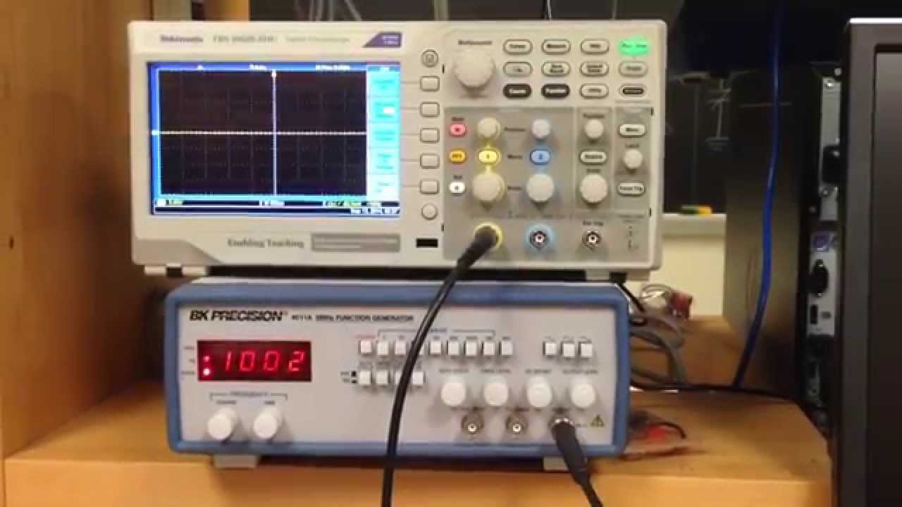 Function Generator And Oscilloscope : Lab transients part a oscilloscope function