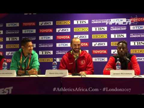 """""""I knew it wasn't going to be easy, but I gave it my all,"""" Wayde van Niekerk (RSA) - London 2017"""