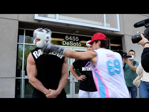 WHO HITS HARDER FT. BRYCE HALL & TAYLOR HOLDER, TIKTOKER VS YOUTUBERS BOXING