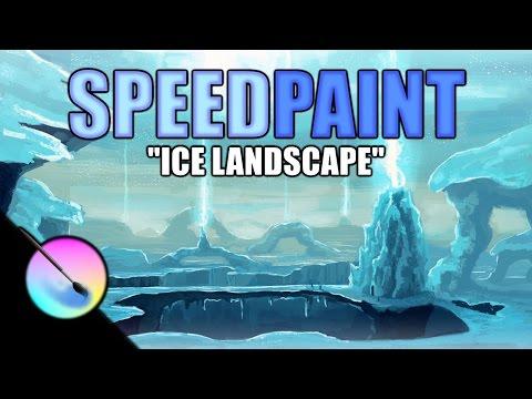 SpeedPaint: Ice landscape (Krita)