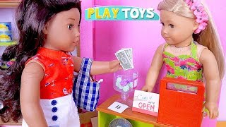 AG Baby Doll Grocery Shopping Adventure with Supermarket Toys and Mini Doll!