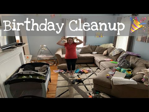 Birthday Party Clean Up | Whole Messy House Clean With Me