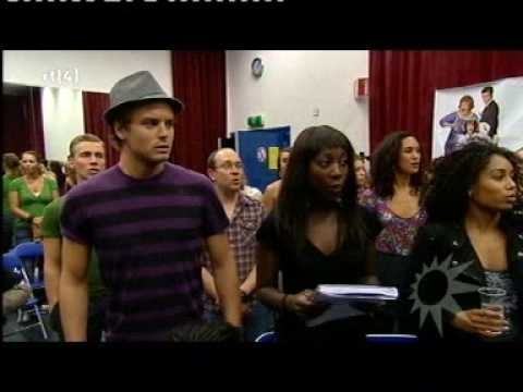 RTL Boulevard - De cast van de Musical Hairspray - Sitzprobe