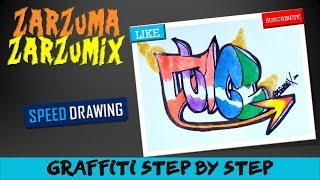 SPEED DRAWING HOW TO DRAW GRAFFITI NAMES FOR BEGINNERS STEP BY STEP