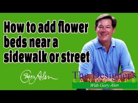 How to add flower beds around a sidewalk and street DesignersLandscape#604