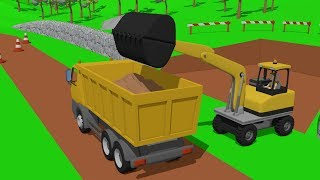 #Excavator & Dump Truck, and Small Wheel Loader _Street Vehicles | Maszyny Budowlane Kids