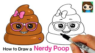 How to Draw a Nerdy Poop Squishy  Silly Poo Squishies