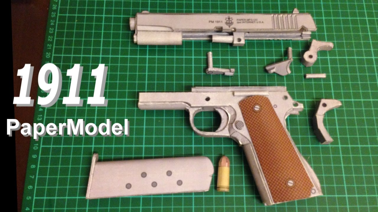How to make a paper 1911 papercraft gun build review youtube how to make a paper 1911 papercraft gun build review pronofoot35fo Gallery