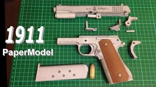 How to make a paper 1911 - papercraft gun build & review.