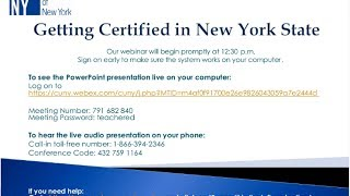 Teacher Ed Webinar: Certification Exams