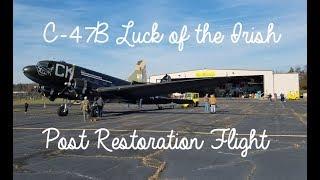 Douglas C-47B Skytrain Luck of The Irish Post Restoration Flight