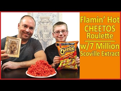 Flamin' Hot Cheetos Roulette w/7 million Scoville extract (The Source) : Crude Brothers