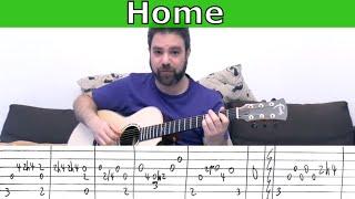 Fingerstyle Tutorial: Home (Michael Bublé) - Guitar Lesson w/ TAB