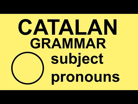 learn catalan grammar subject pronouns youtube. Black Bedroom Furniture Sets. Home Design Ideas