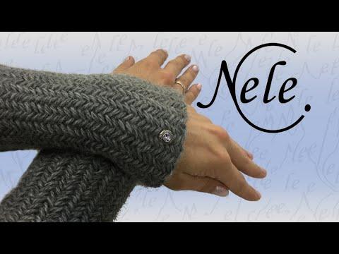 """Stricken für Anfänger, Pulswärmer """"Fischgrätmuster"""" stricken, Herringbone – DIY by Nele C."""