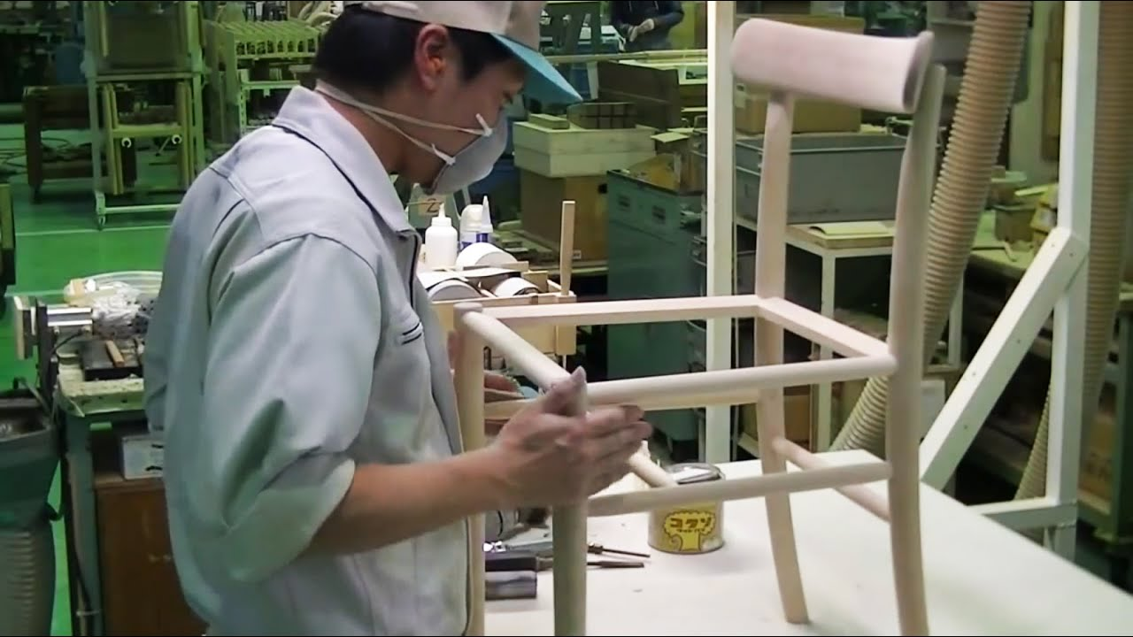 Manufacturing process of Lightwood chair designed by