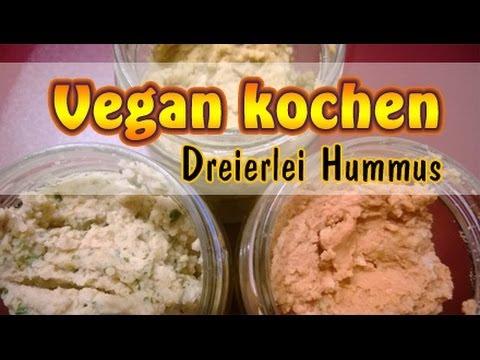 Rezept: Dreierlei Hummus | Veganen Aufstrich selber machen ...