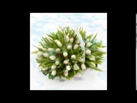 Новогодняя Корзина с тюльпанами!