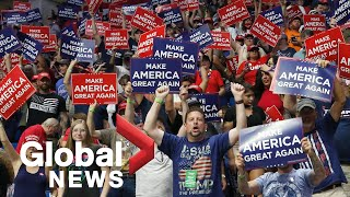 Trump supporters rally in Tulsa amid rising racial tensions, COVID-19 resurgence