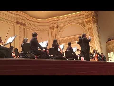 Brian Neal plays trumpet at Carnegie Hall