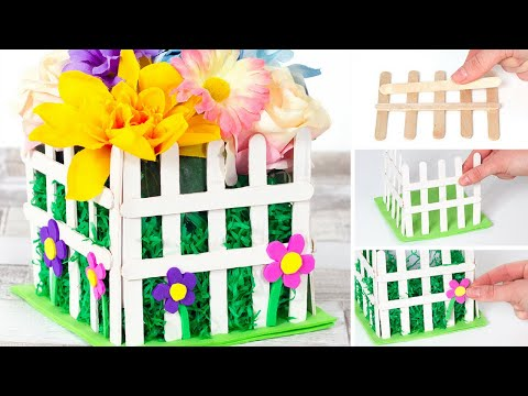 How To Create An Picket Fence Flowerpot