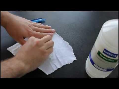 Verf Op Leren Bank Verwijderen.Inktvlekken Verwijderen Uit Kleding Youtube