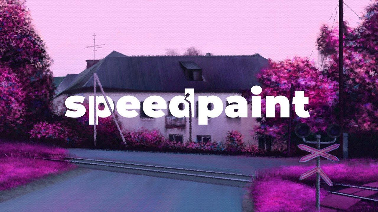 Индустриальный район. Speedpaint