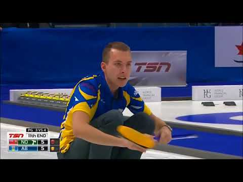 2018 Brier. Perfect draw in the extra-end by Brendan Bottcher