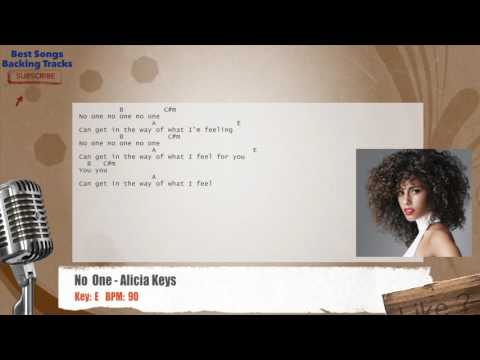 No One - Alicia Keys Vocal Backing Track with chords and lyrics