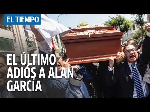 La despedida que le hicieron a Alan García sus seguidores I EL TIEMPO