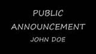 Public Announcement - John Doe